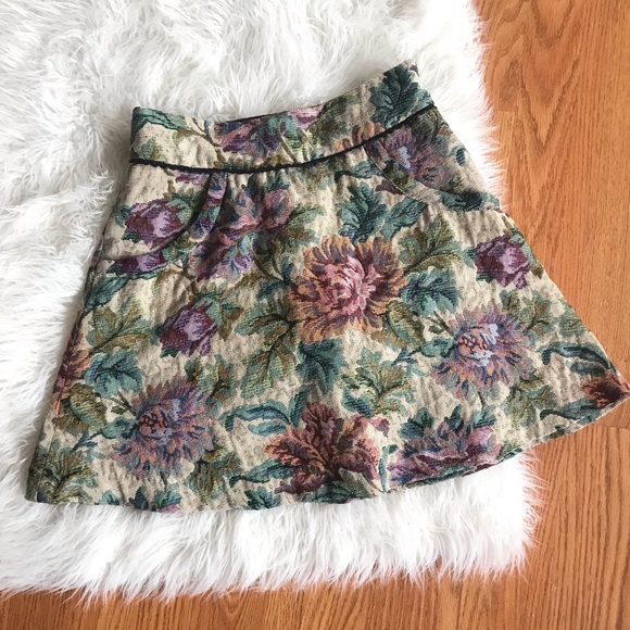 a1ab5319d Free People Skirts | Floral Tapestry Circle Skirt | Poshmark